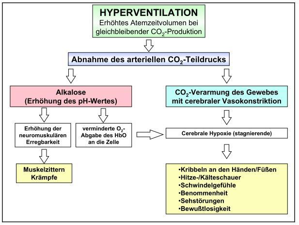 Abb. 2.9 - Hyperventilation - Verhütung - Behandlung - Ursachen - Symptome